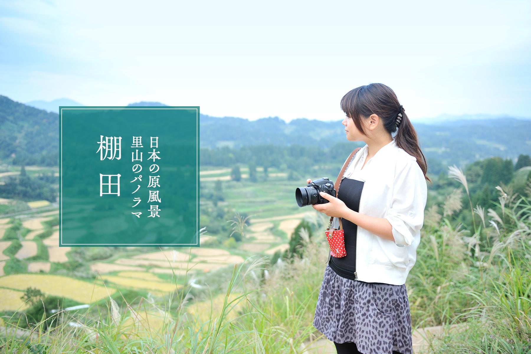 〈棚田〉日本の原風景・里山のパノラマ
