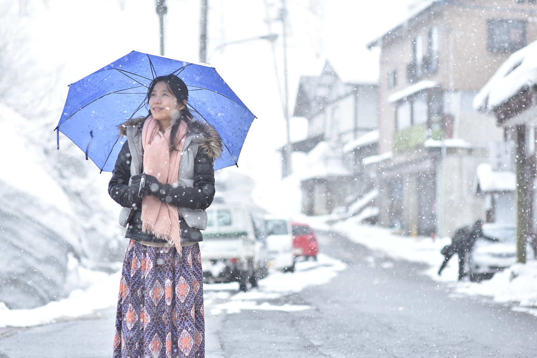 冬-3 雪の温泉街